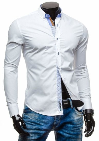 Pánská košile BOLF 5777 bílá