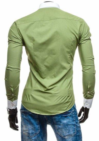 Pánská košile BOLF 5798 olivová