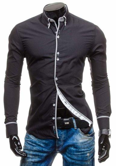 Pánská košile BOLF 5811 černá