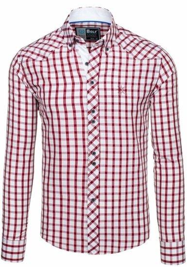 Pánská košile BOLF 5812 bordová