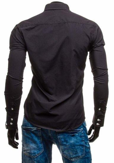 Pánská košile BOLF 5814 černá