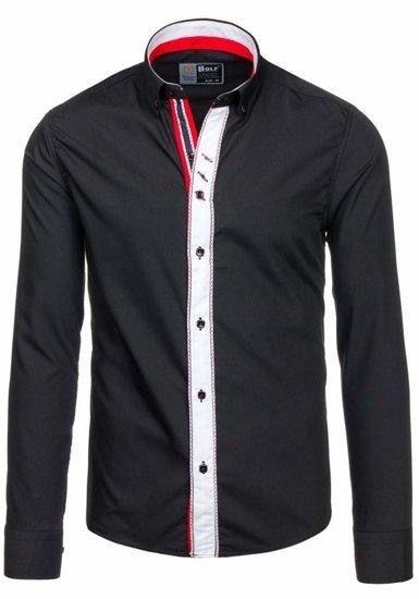 Pánská košile BOLF 5827 černá