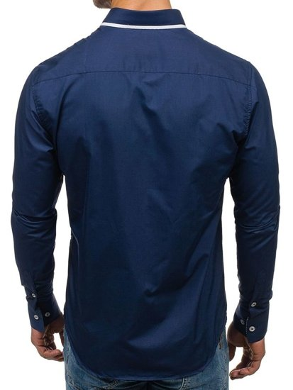 Pánská košile BOLF 6857 tmavě modrá