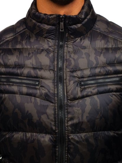 Pánská maskáčovo-khaki přechodná bunda Bolf 3156
