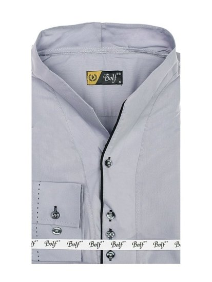 Pánská šedá košile s dlouhým rukávem Bolf 5720