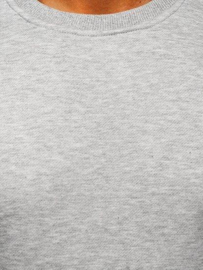 Pánská šedá mikina bez kapuce Bolf 2001