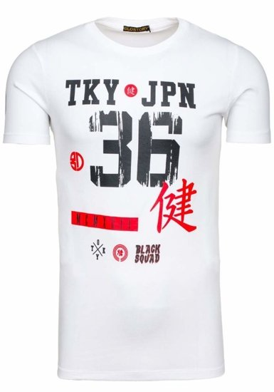Pánské bílé tričko s potiskem Bolf 1927