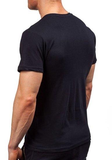 Pánské černé tričko s potiskem Bolf 1939