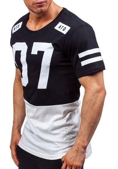 Pánské černé tričko s potiskem Bolf 1942