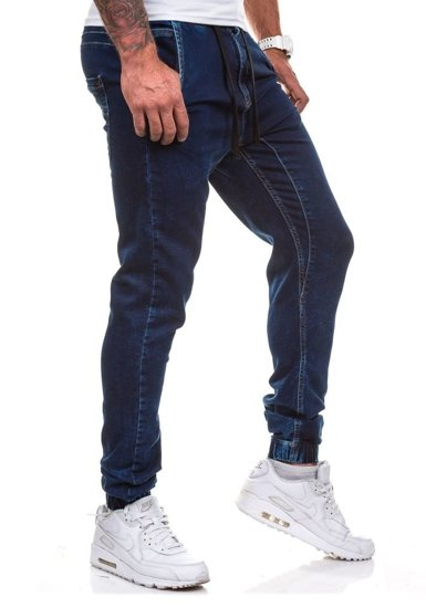 Pánské kalhoty jogger COMEOR 4156-1 inkoustově modré