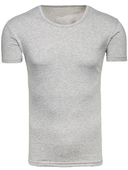 Pánské šedé tričko bez potisku Bolf 2006