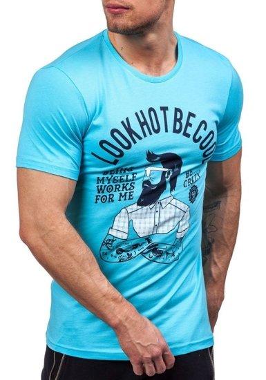 Pánské tričko ATHLETIC 1025 tyrkysové