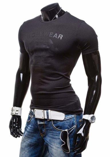 Pánské tričko GLO-STORY 6154 černé