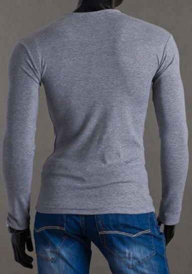 Pánské tričko s dlouhým rukávem ACS 0004 šedo-černé