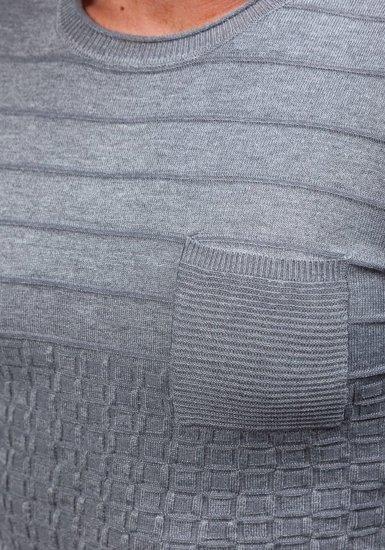 Pánský šedý svetr Bolf 2028