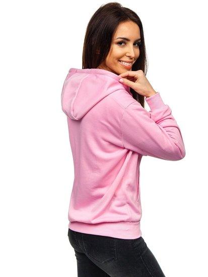 Růžová dámská mikina s kapucí Bolf WB1005