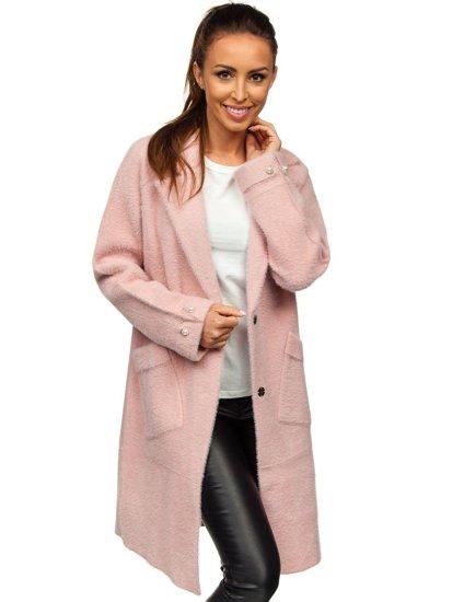 Růžový dámský kabát Bolf 20737