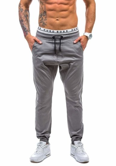 Šedé pánské jogger kalhoty Bolf 0449-1