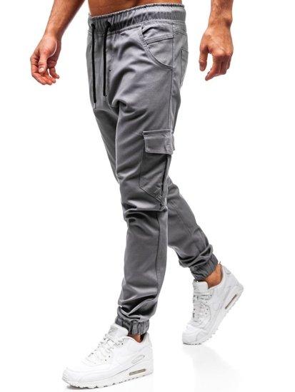 Šedé pánské jogger kapsáče Bolf 0404