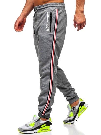 Šedé pánské teplákové joggery Bolf Q3886