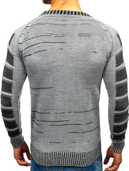 Šedý pánský svetr Bolf 6007