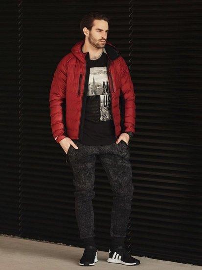 Stylizace č. 359 - hodinky, sportovní bunda, tričko s dlouhým rukávem a potiskem, jogger kalhoty