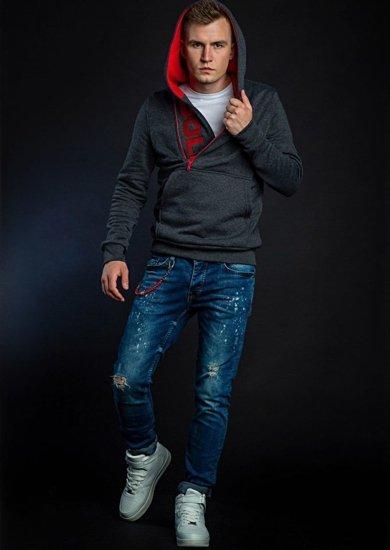 Stylizace č. 42 - mikina s kapucí, tričko, džíny