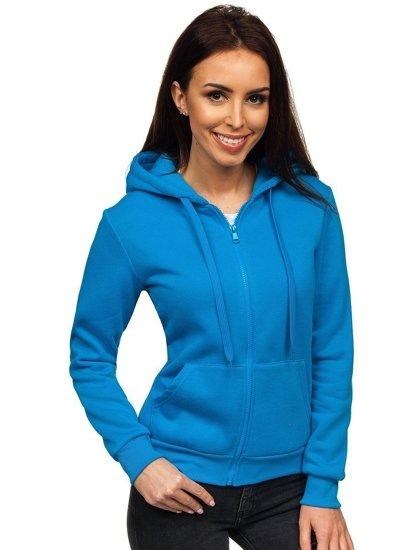 Světle modrá dámská mikina s kapucí Bolf WB1005