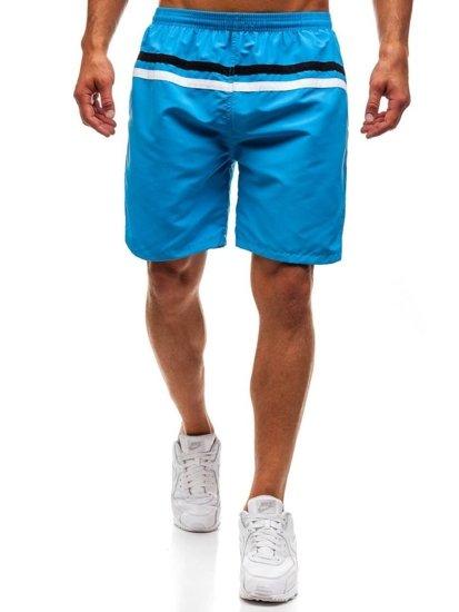 Světle modré pánské koupací šortky Bolf Y765