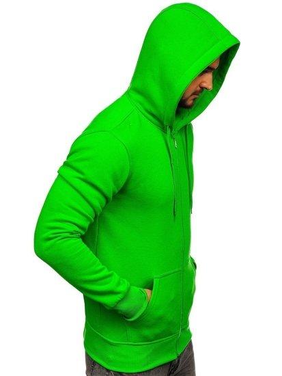 Světle zelená pánská mikina na zip s kapucí Bolf 2008