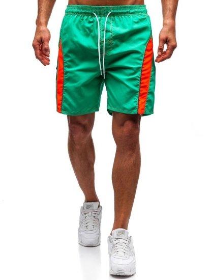 Světle zelené pánské koupací šortky Bolf 336