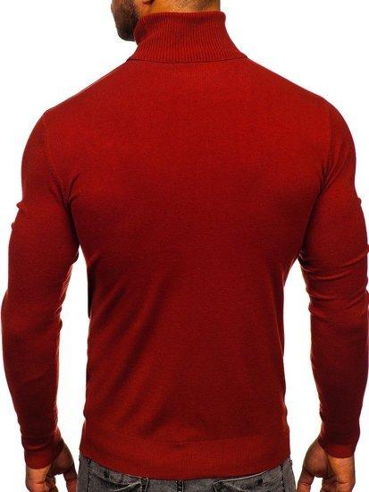 Tmavě červený pánský rolák bez potisku Bolf YY02