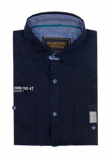 Tmavě modrá pánská košile Bolf 1146