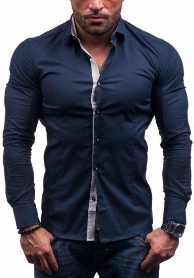 Tmavě modrá pánská košile Bolf 7185