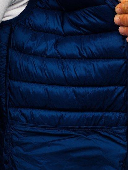 Tmavě modrá pánská mikina na zip s kapucí Bolf LY36