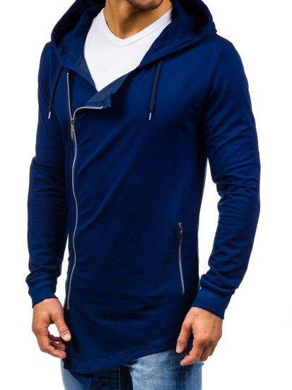 Tmavě modrá pánská mikina s kapucí Bolf 0353