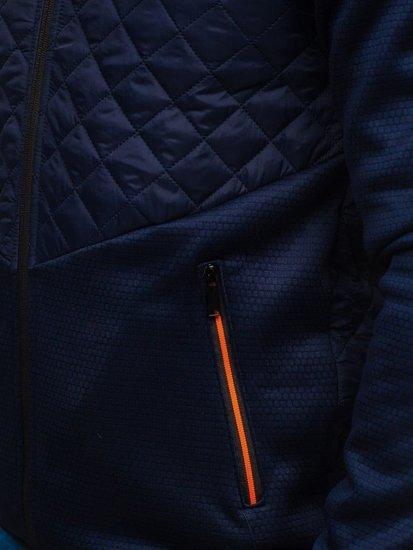 Tmavě modrá pánská sportovní přechodová bunda Bolf KS1918