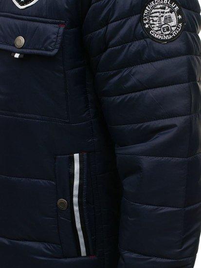 Tmavě modrá pánská sportovní zimní bunda Bolf 77