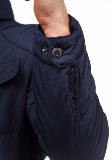 Tmavě modrá pánská zimní bunda Bolf 1350