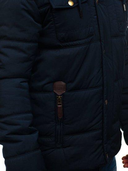 Tmavě modrá pánská přechodová bunda Bolf 1665