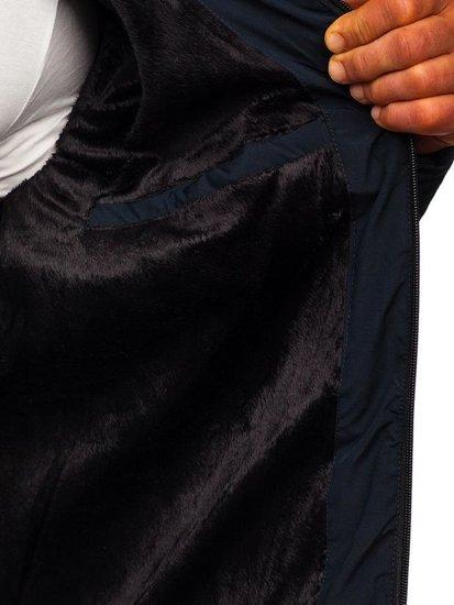 Tmavě modrá pánská zimní bunda Bolf 5923