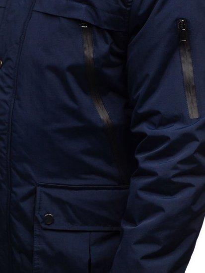 Tmavě modrá pánská zimní parka Bolf R101