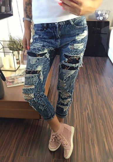 Tmavě modré dámské džíny Bolf 5127