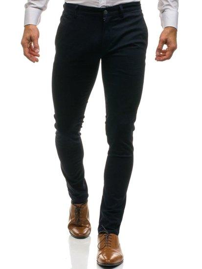 Tmavě modré pánské společenské kalhoty Bolf HO7