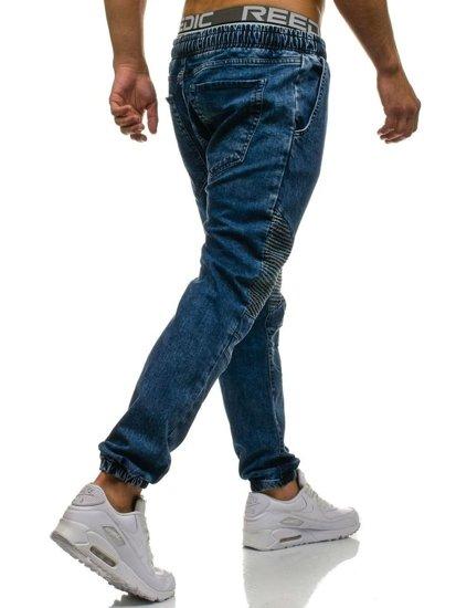 Tmavě modré pánské džínové jogger kahoty Bolf 817