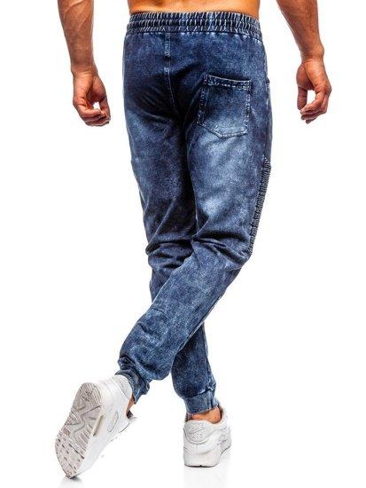 Tmavě modré pánské džínové jogger kalhoty Bolf KK1037