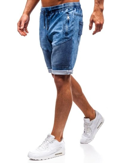 Tmavě modré pánské džínové kraťasy Bolf HY345