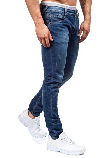 Tmavě modré pánské džíny Bolf 8895