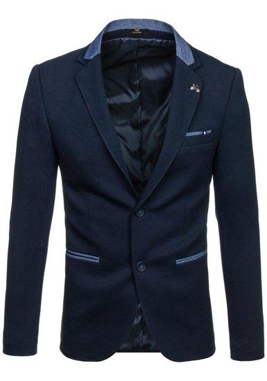 Tmavě modré pánské elegantní sako Bolf RBR156