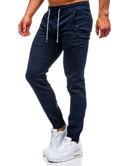 Tmavě modré pánské jogger kalhoty Bolf CT8808